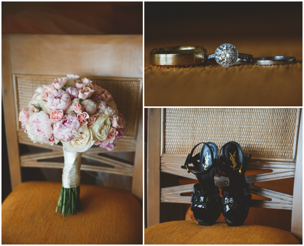 Jamaica Wedding Florist, YSL Bridal Shoes