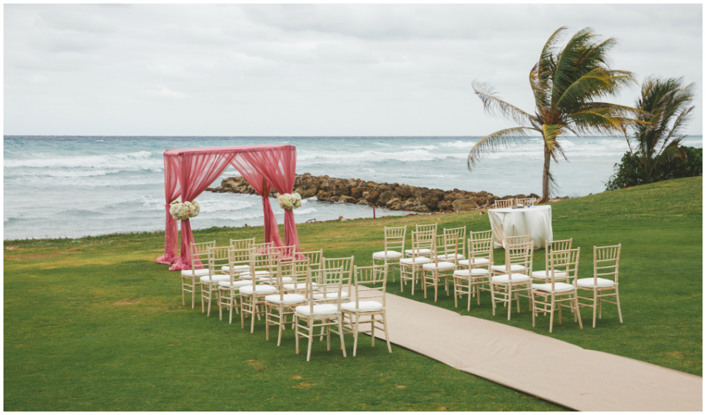 Rose Hall Ocean's Edge Wedding Ceremony
