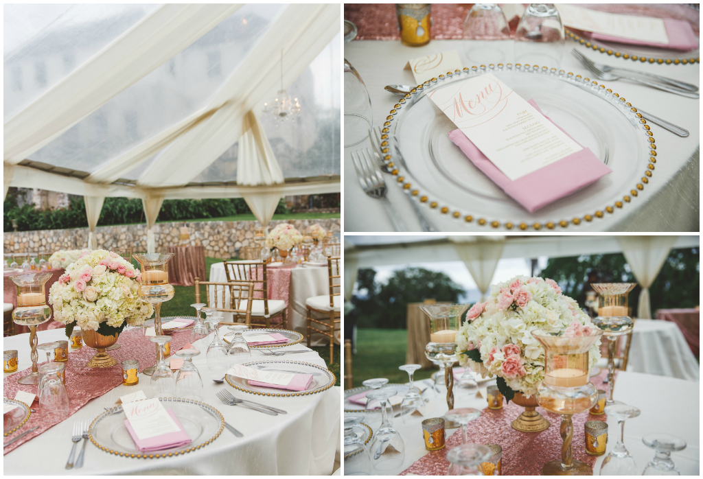 Blush And Gold Tent Wedding