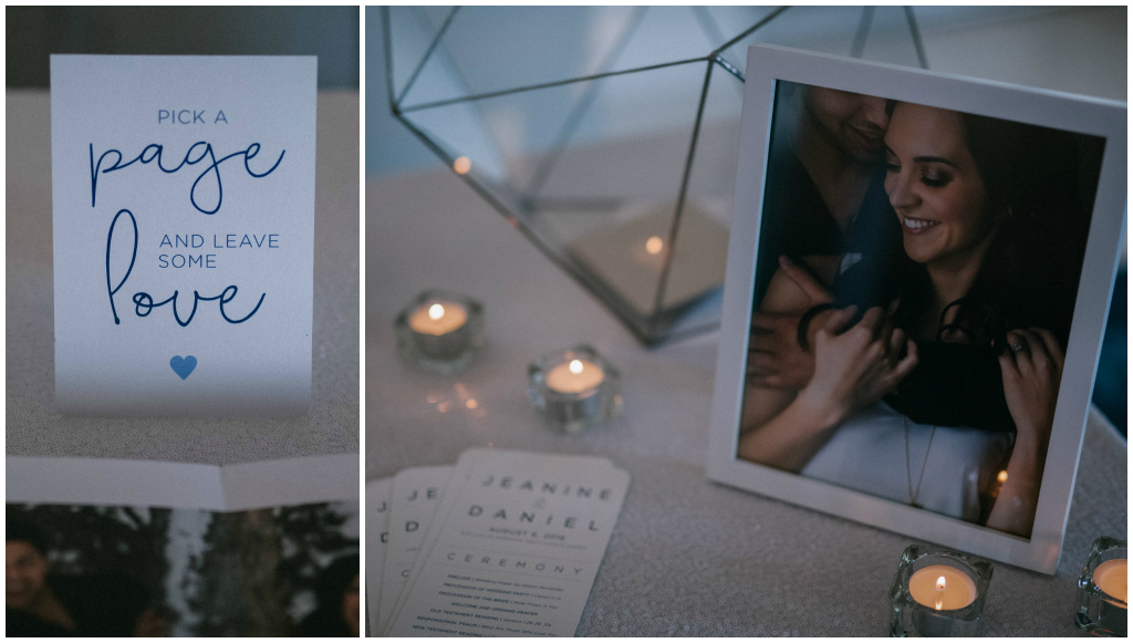 Modern White and Blue Edmonton Wedding