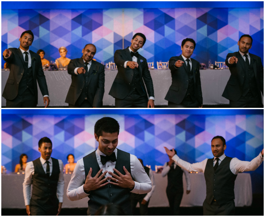 Surprise groomsmen dance wedding