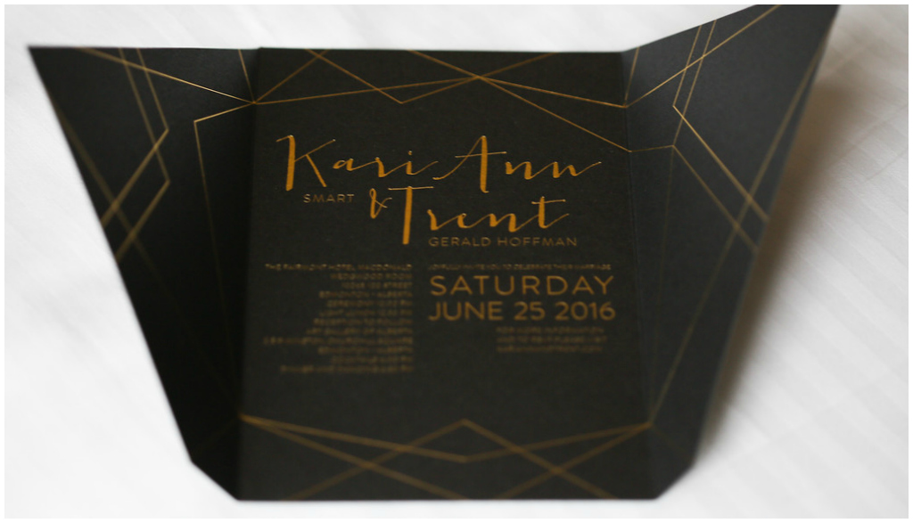 Edmonton Modern Wedding Stationery, Geometric Wedding Invite