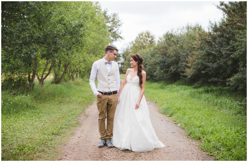 Outdoor Edmonton Area Summer Wedding