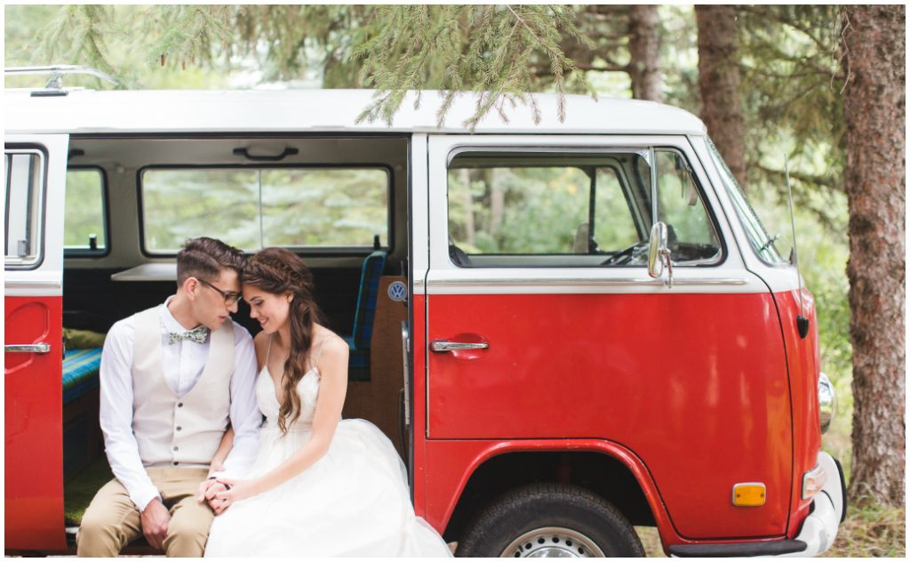 Little Red Volkswagen Wedding Photos, Jill Coursen