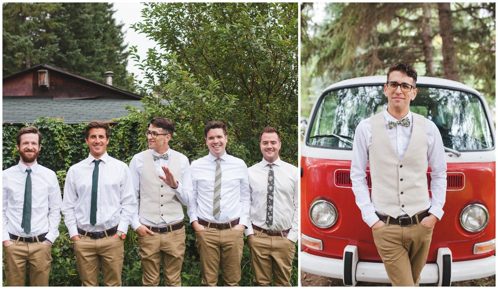 Red Volkswagen Van Wedding