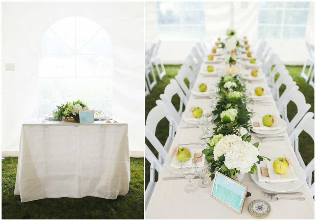 Ivory and Green Tent Wedding