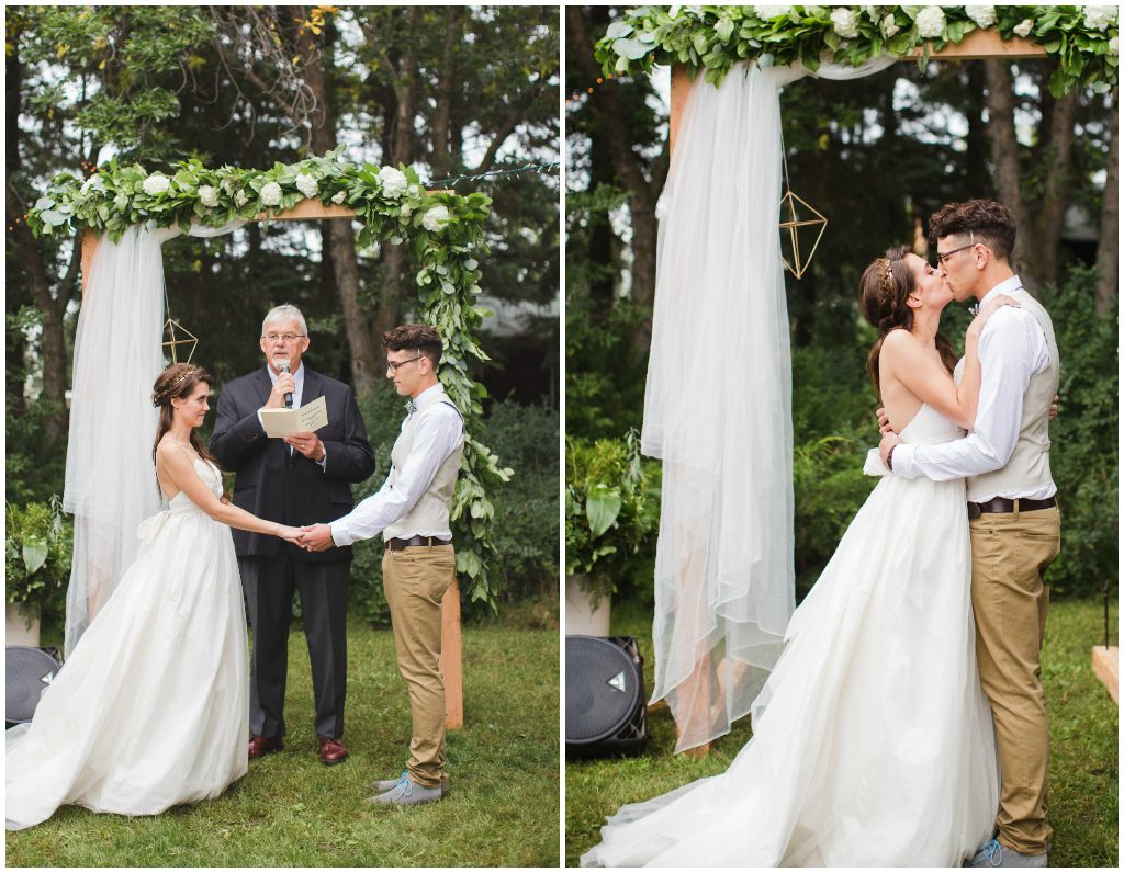 outdoor garden wedding ceremony