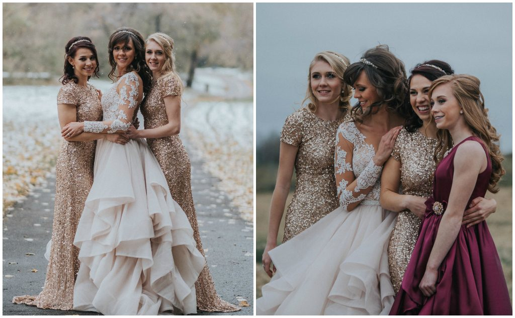 Gold Sequin Bridesmaids Edmonton