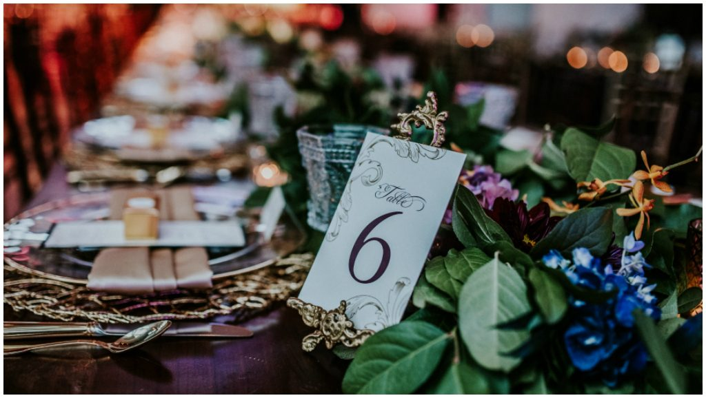 Elegant Table Settings and Table Numbers