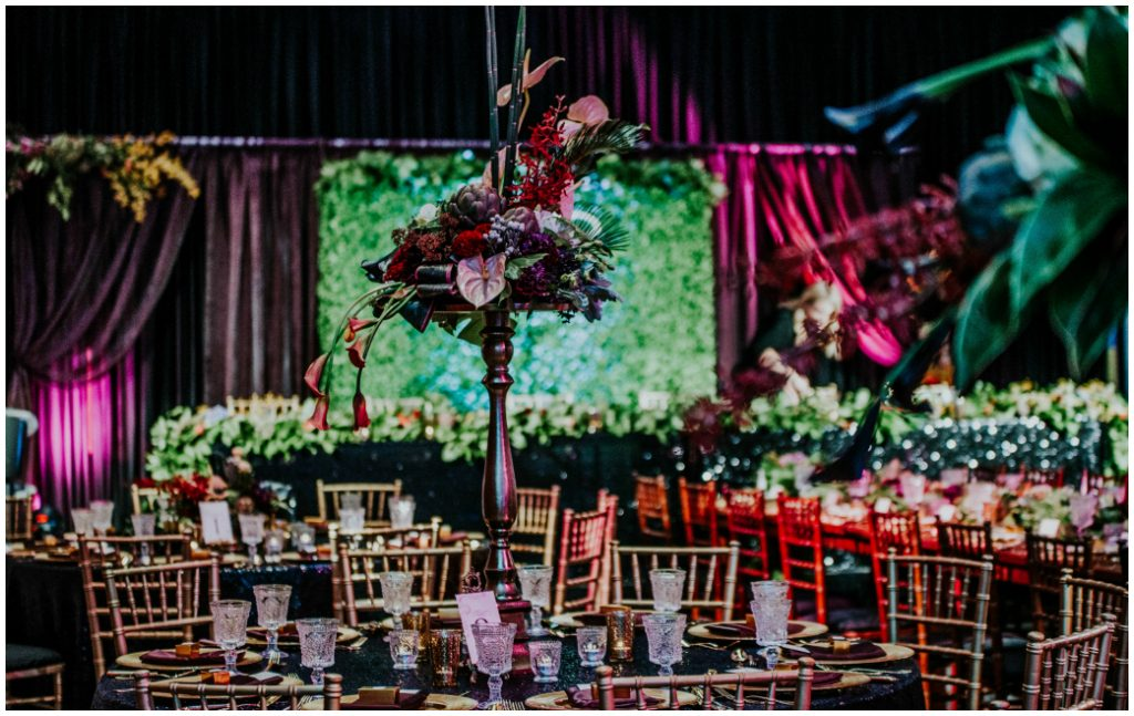 Tall Modern Wedding Centrepieces