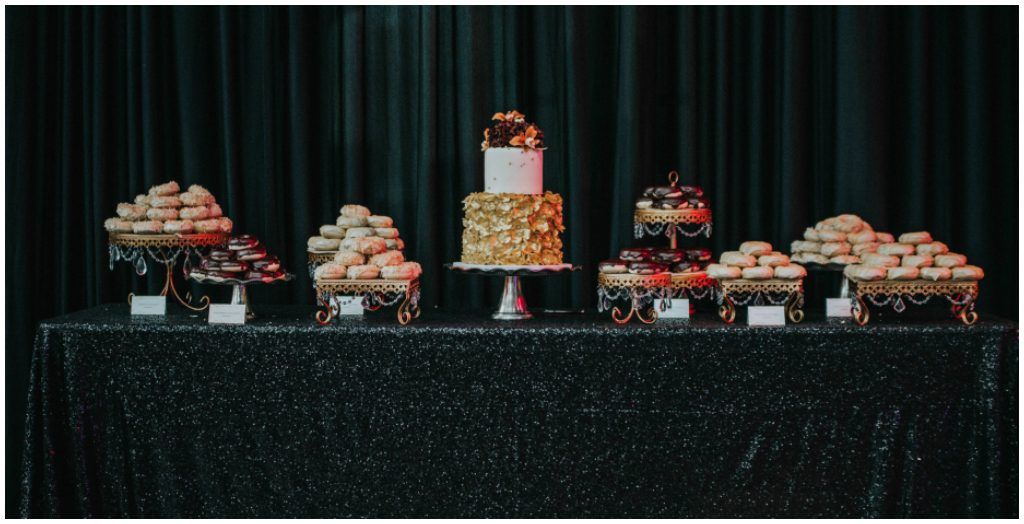 Edmonton Bakery, Dessert Tables Art of Cake Edmonton, Black sequin dessert table