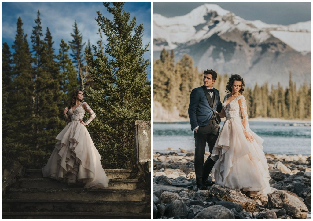 Banff Alberta Newlywed Adventure Session