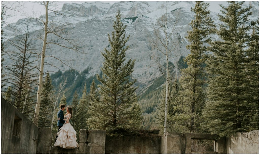 Rocky Mountain Bride and Groom Photos