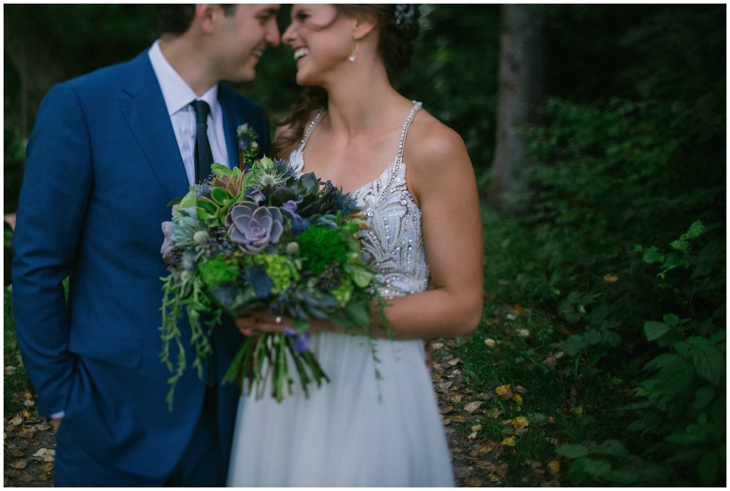 Navy and Green Summer Wedding