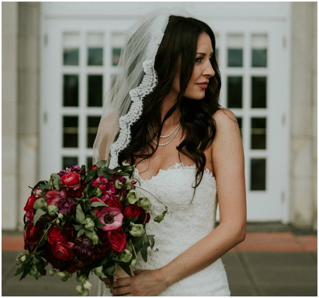 Edmonton Luxurious Burgundy and Red Bridal Bouquet