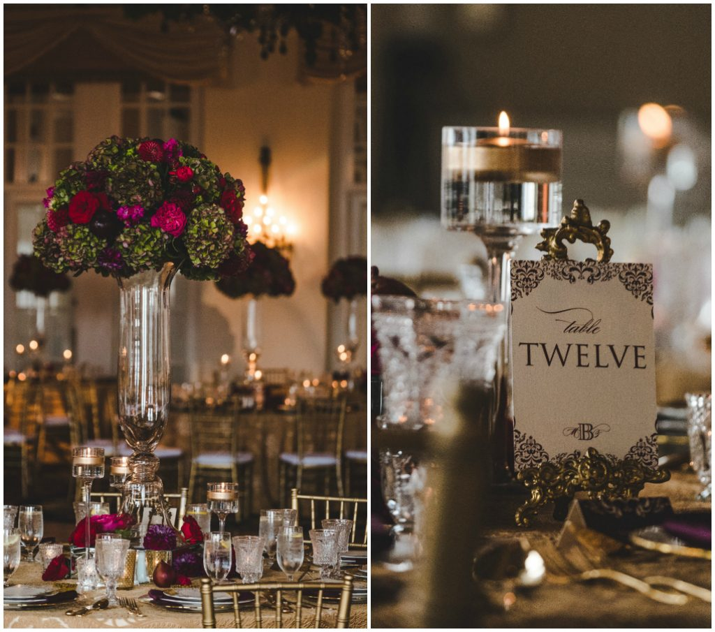 Elegant Gold Green and Burgundy Wedding, Gold details wedding