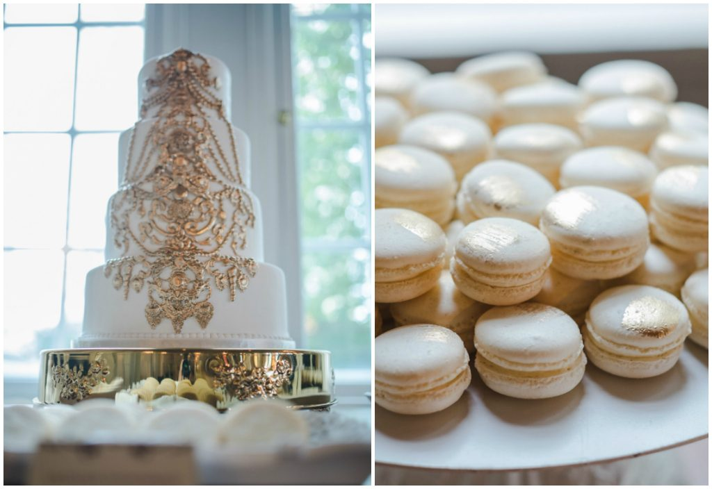 Beautiful Gold Detailed Wedding Desserts