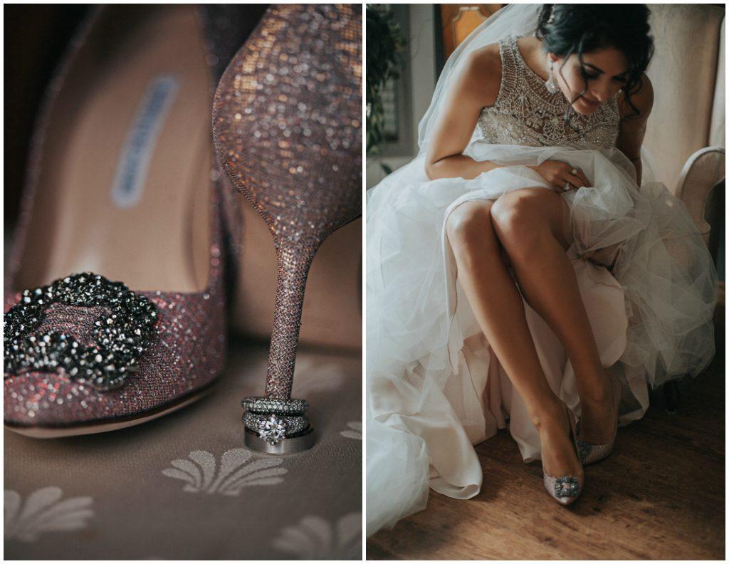 Pink Sparkly Bridal Heels