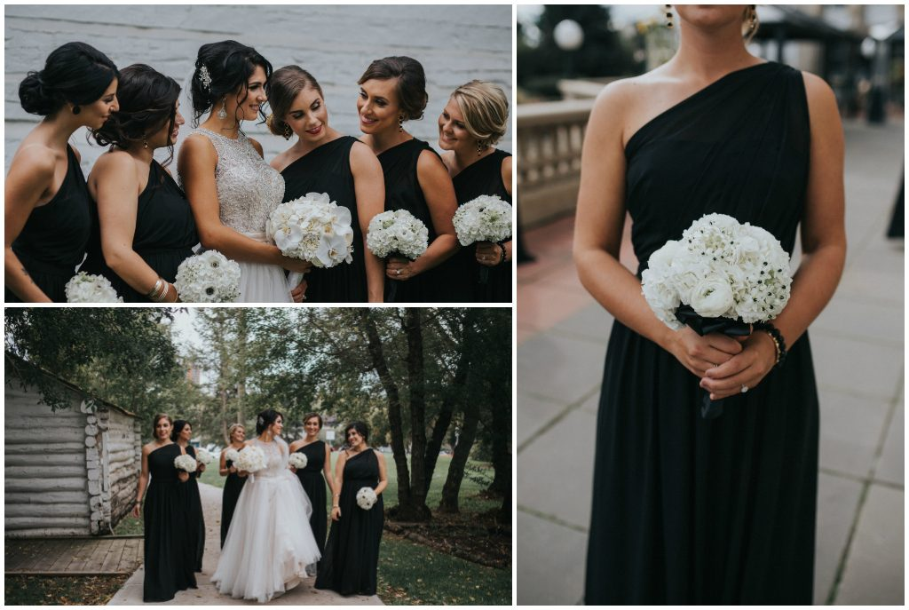 White and Black Bridal Party