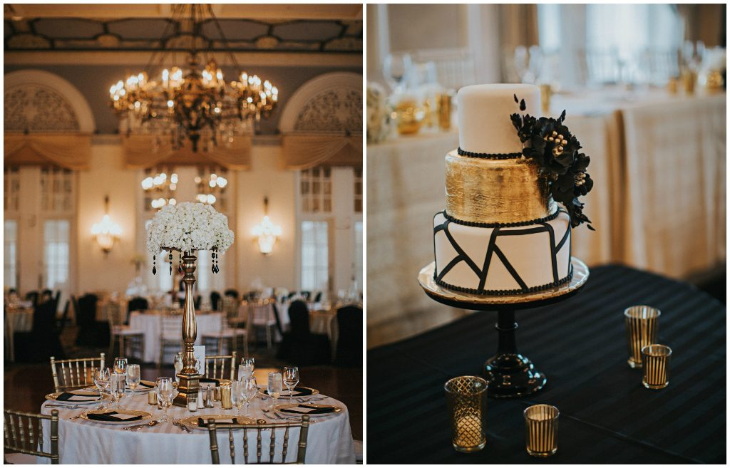 Glamorous Gold and Black Ballroom Wedding