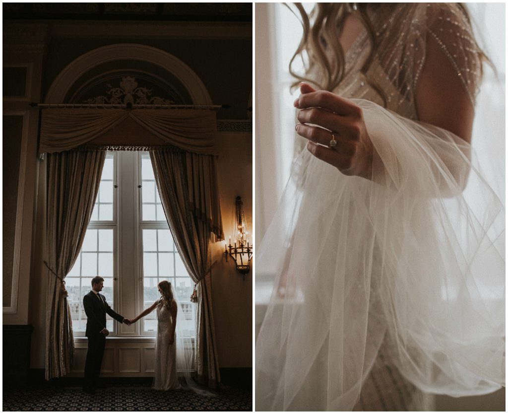 Moody Fairmont Hotel Macdonald Wedding Photos