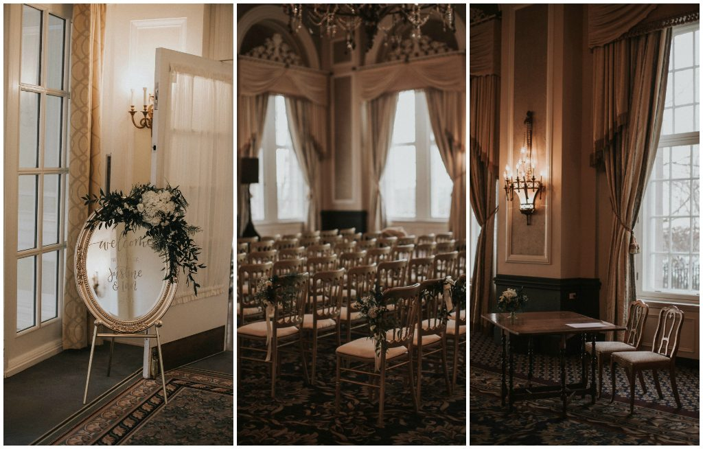 Gold Chateau Chairs Ceremony
