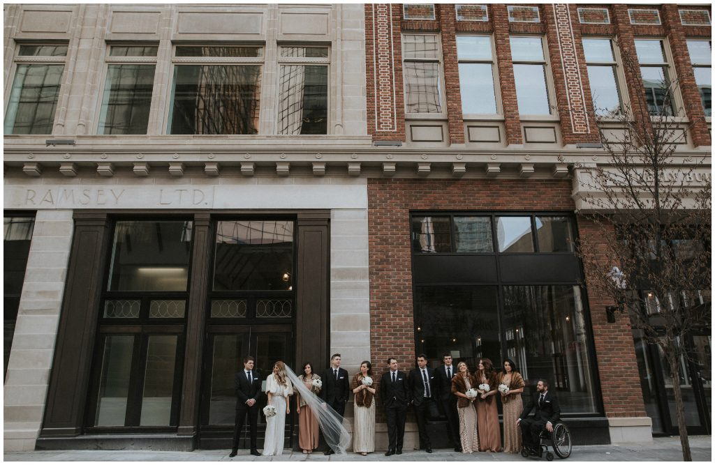 Outdoor Fall Wedding Party Photos