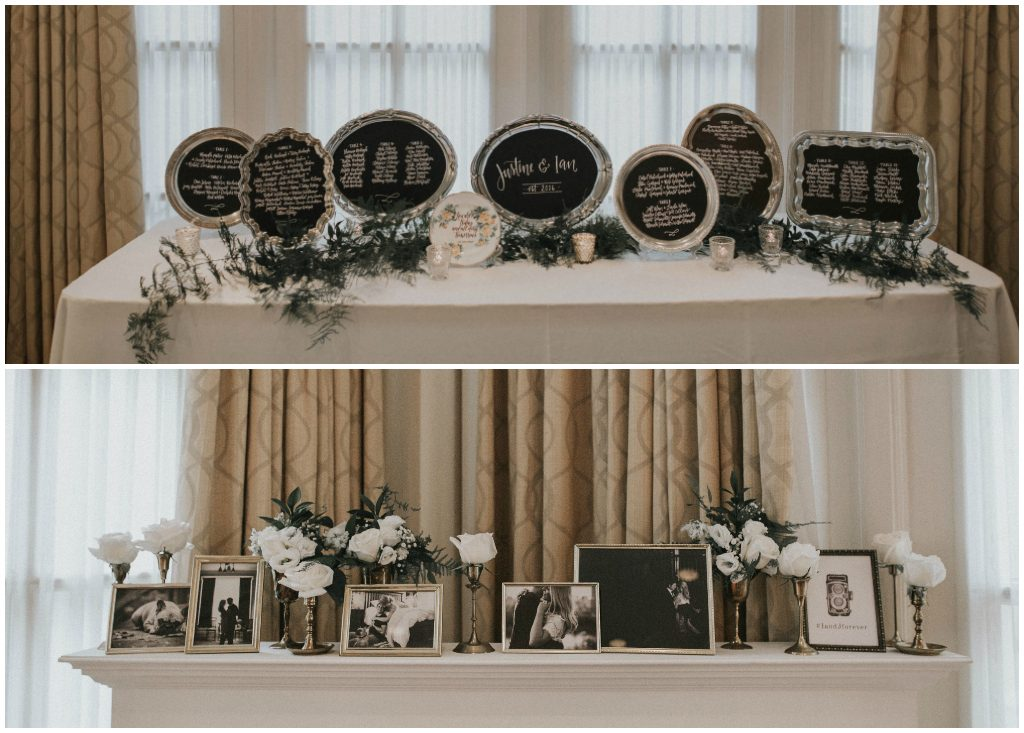 Classic Wedding Photos Displayed, Brass Wedding Vases