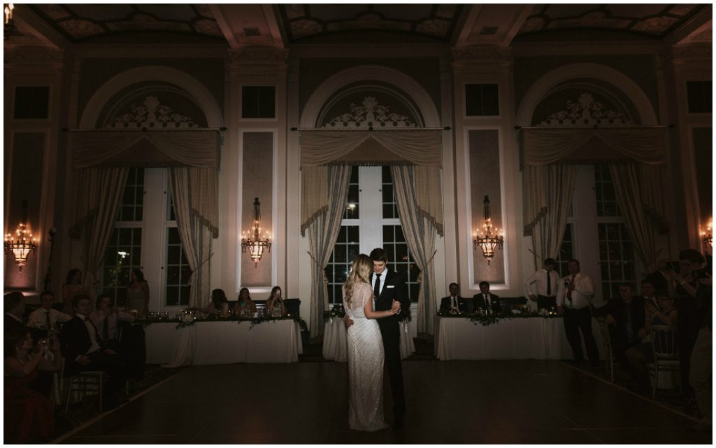 First dance bride groom hotel ballroom