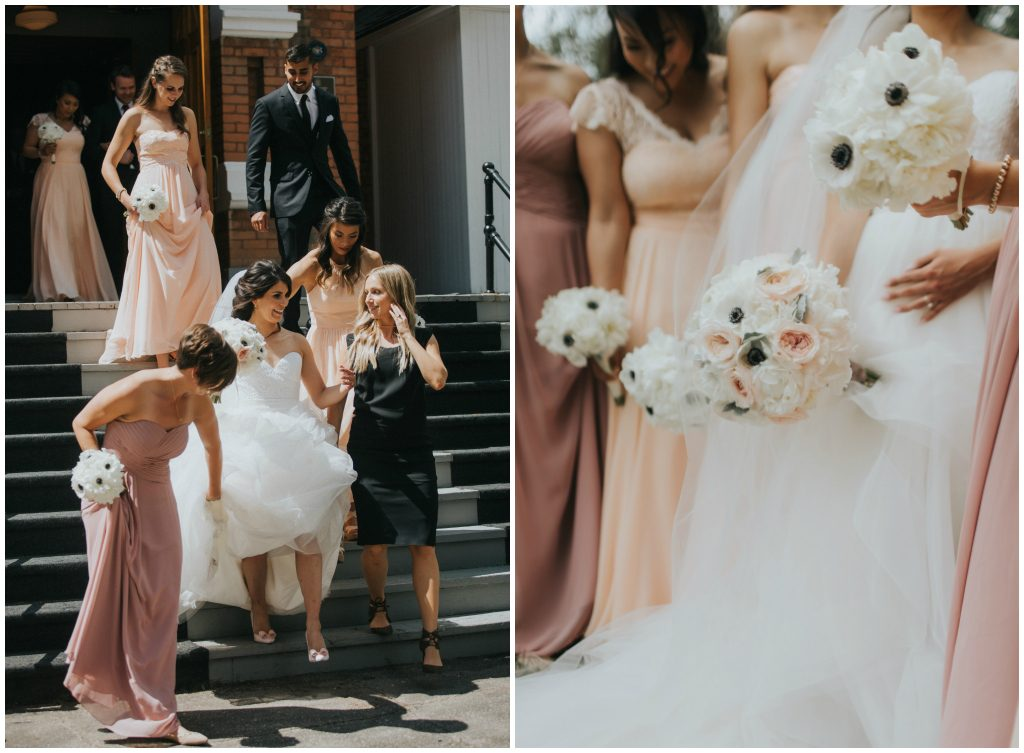 Blush and Pink Bridesmaids