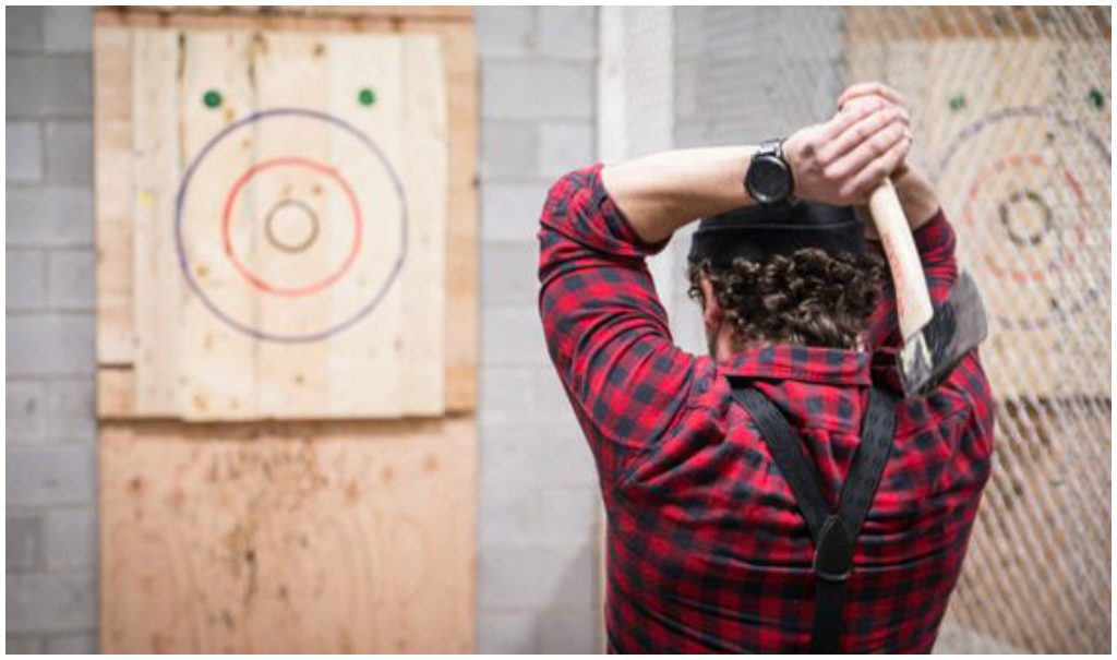 Axe Throwing Edmonton Bachelor Patry