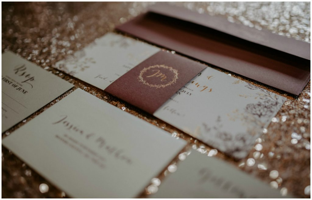 Pinkpolka Invitations & Stationery, Blush and Burgundy Wedding Invitations