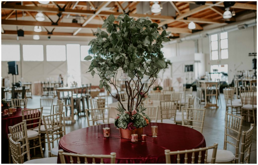 Burgundy Wedding Tables