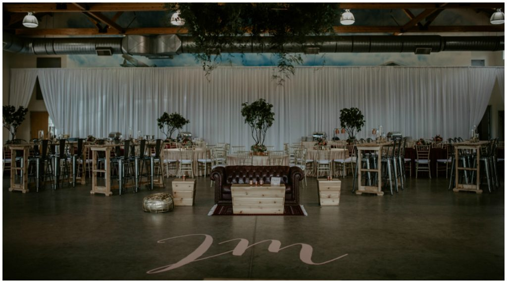Wedding Dancefloor Initials Decal