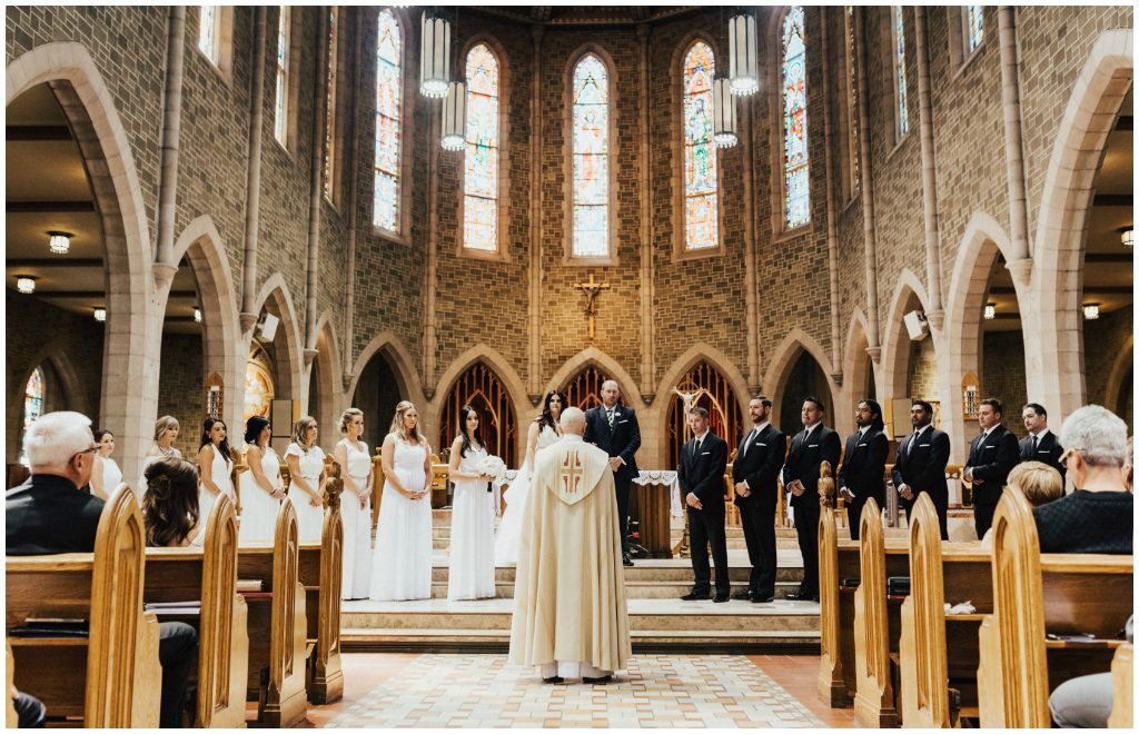 Edmonton Summer Cathedral Wedding
