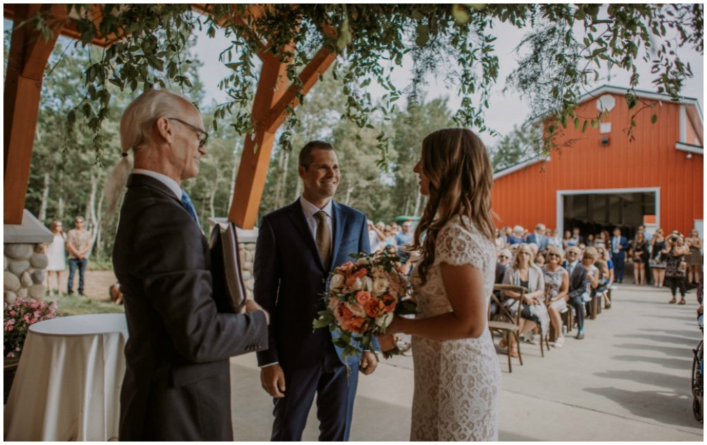Edmonton Wedding Officiant Robert Ligertwood, Jennifer Bergman Wedding Day Management