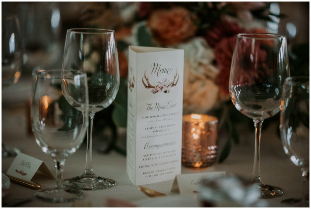 Edmonton Wedding Menus and Stationery