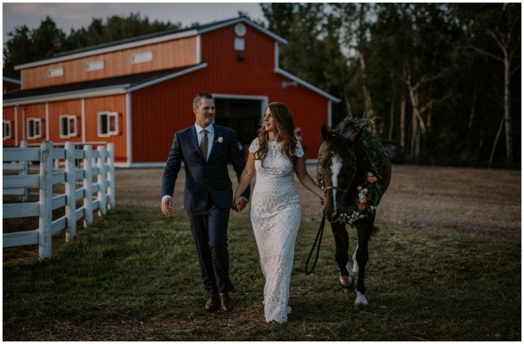 Rustic Boho Horse Farm Wedding Featured in Dote Magazine