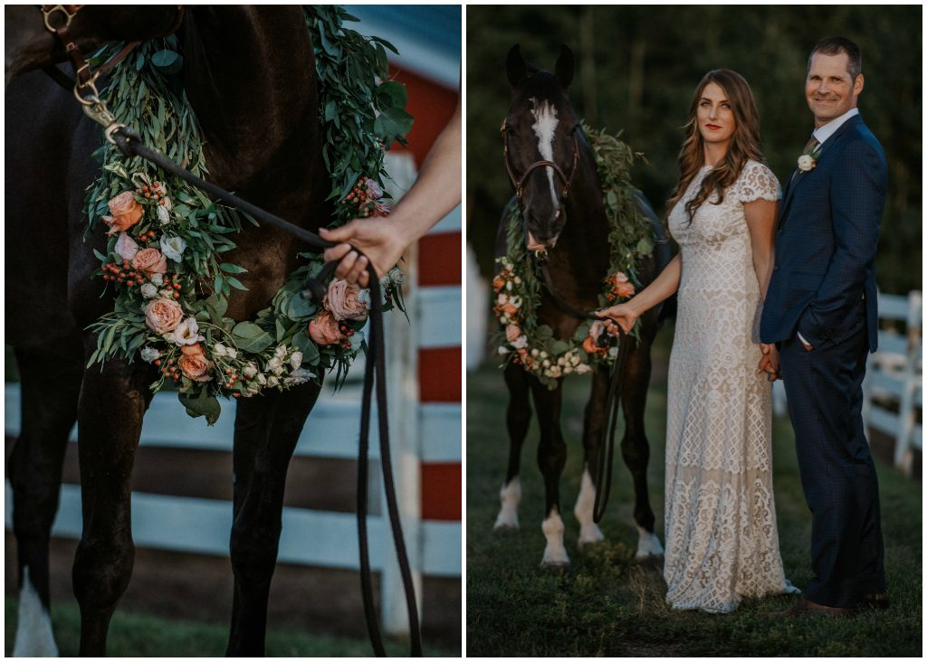 Floral and Greenery Horse Wreath