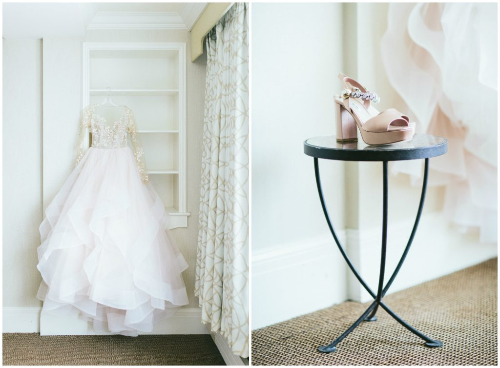 Blush Bridal Gown Lake Louise