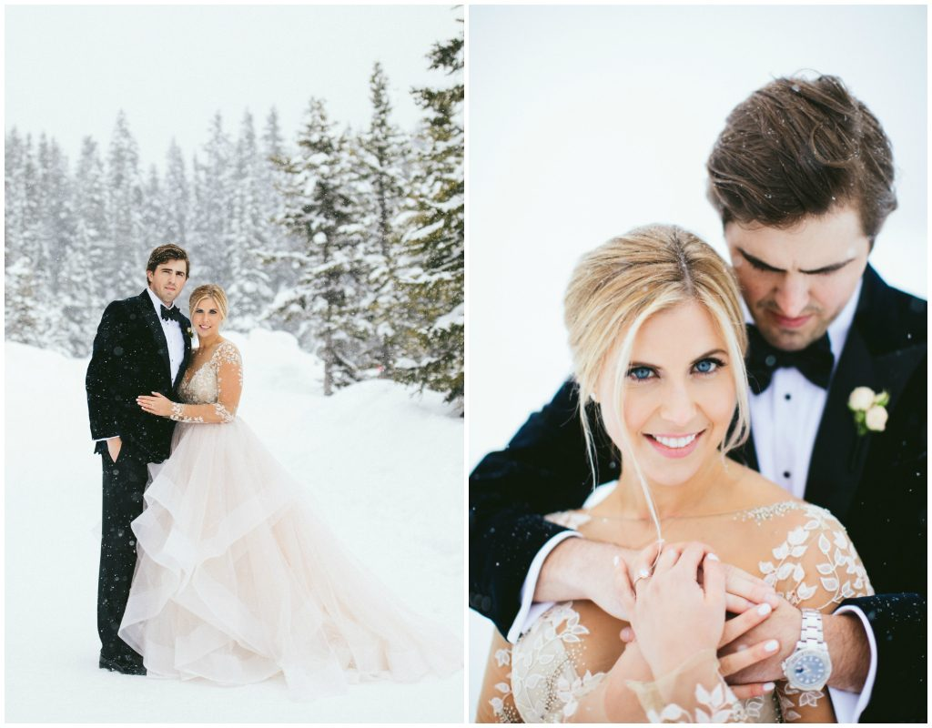 Rocky Mountain Canada Wedding Winter