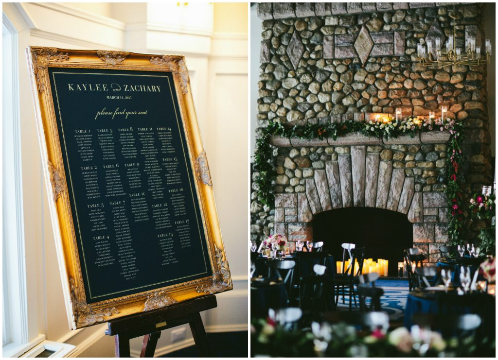 Victoria Ballroom Wedding Fireplace Details