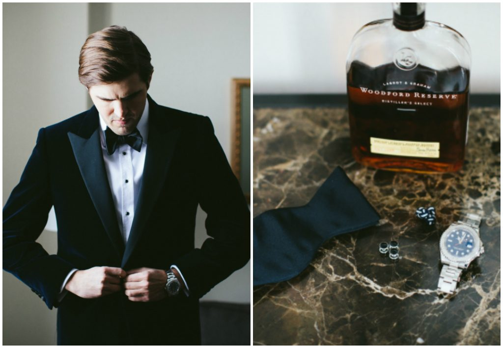 Classic Groom's Black Tux and Details