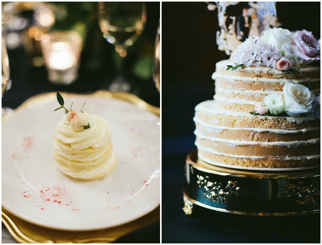 Individual Wedding Cakes by Chateau Lake Louise