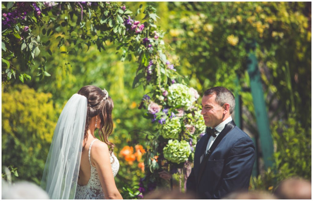 Elegant Outdoor Wedding Ceremony at Hatley Castle
