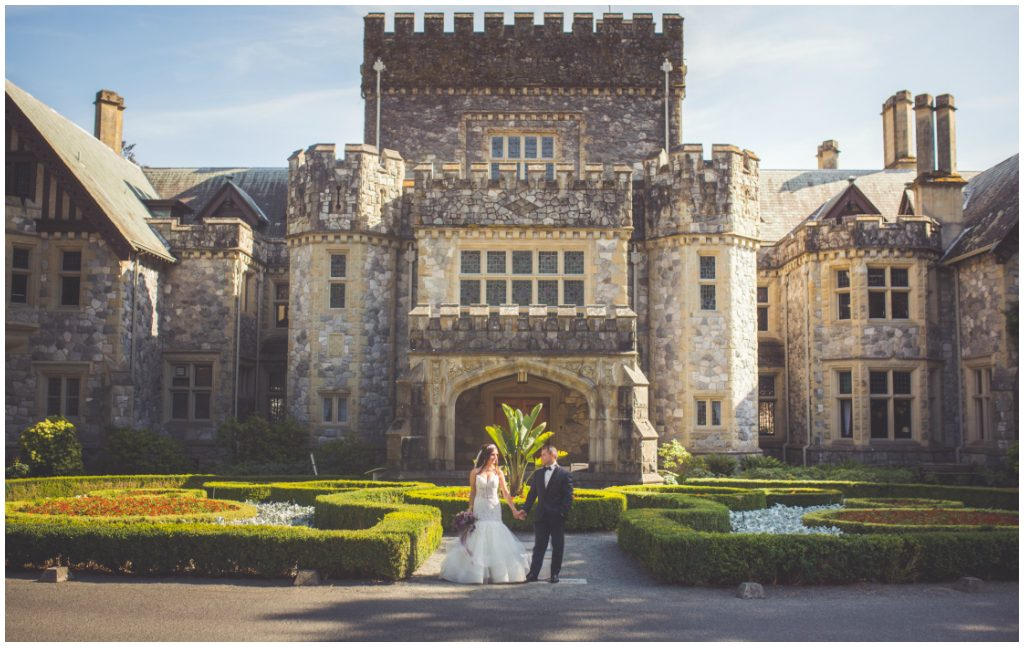 Luxe Garden Castle Wedding Victoria British Columbia