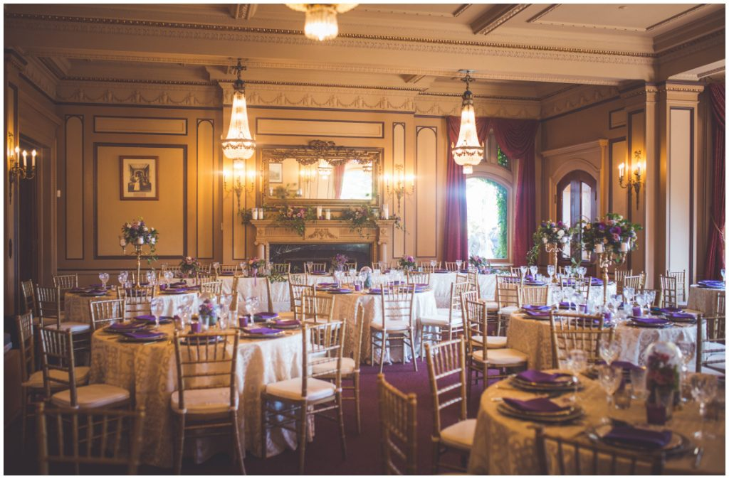Gold Purple Regal Castle Wedding