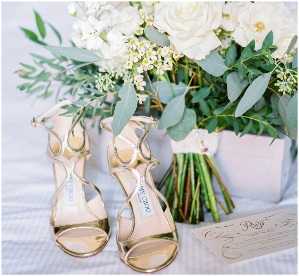 Gold Wedding Heels, Jimmy Choo Bridal Details