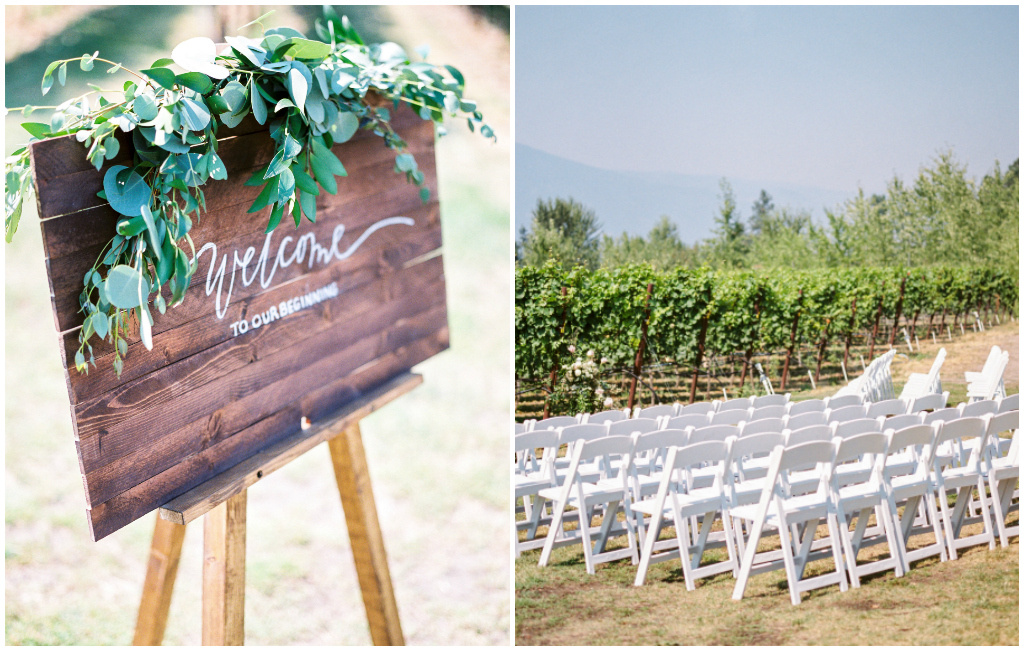 Greenery Ceremony Welcome Sign