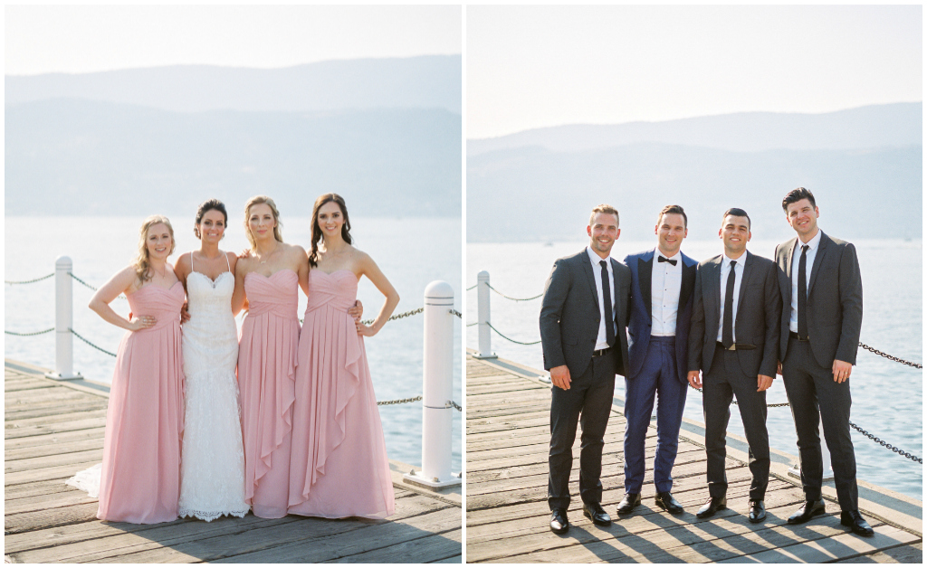 Classic Bridal Party Photo, Kelowna Wedding Doc Photos